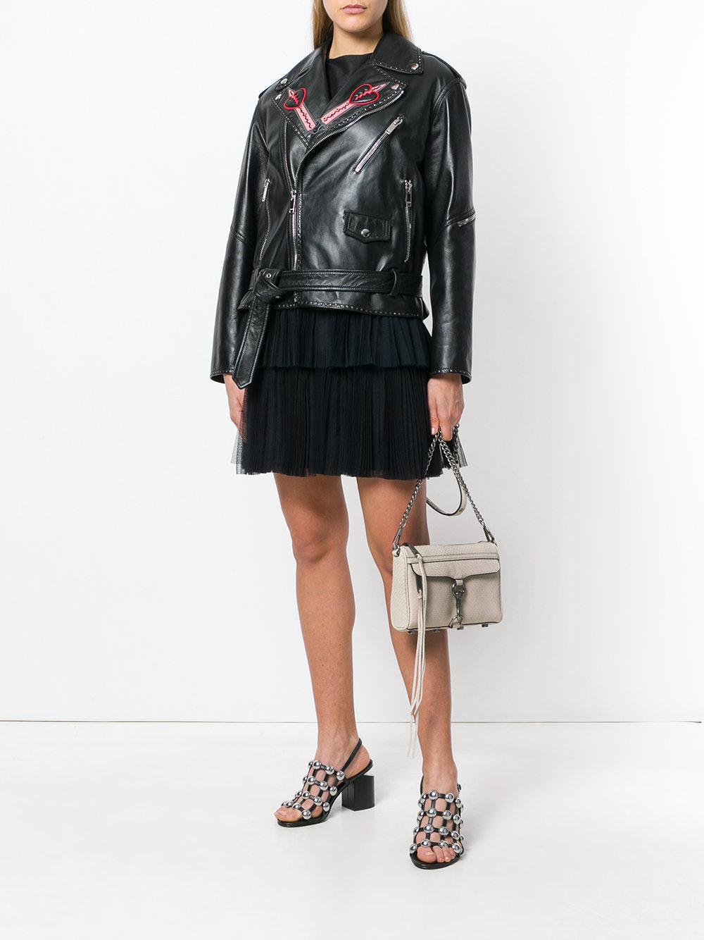 Rebecca Minkoff Leather Mini Mac Crossbody Bag in Natural