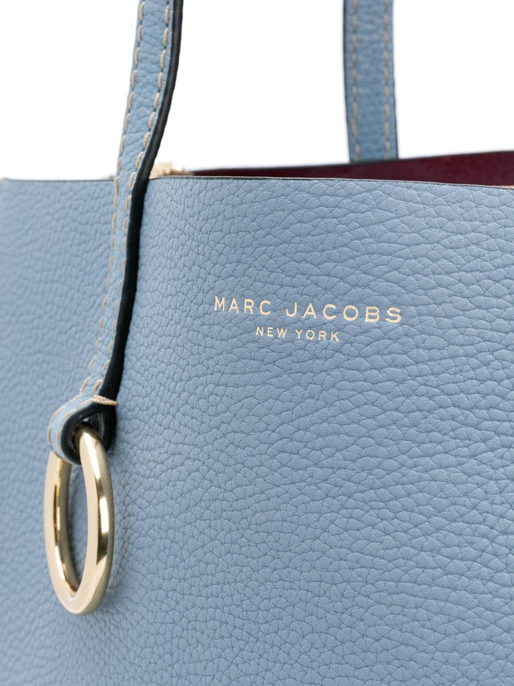 Marc Jacobs Leather The Bold Grind Shopper Tote in Blue