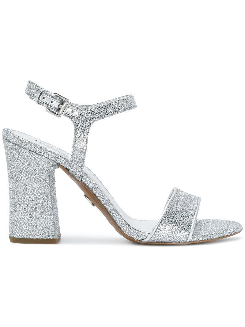 d0871ff038e8 MICHAEL Michael Kors Tori Sequined Sandals in Metallic - Lyst