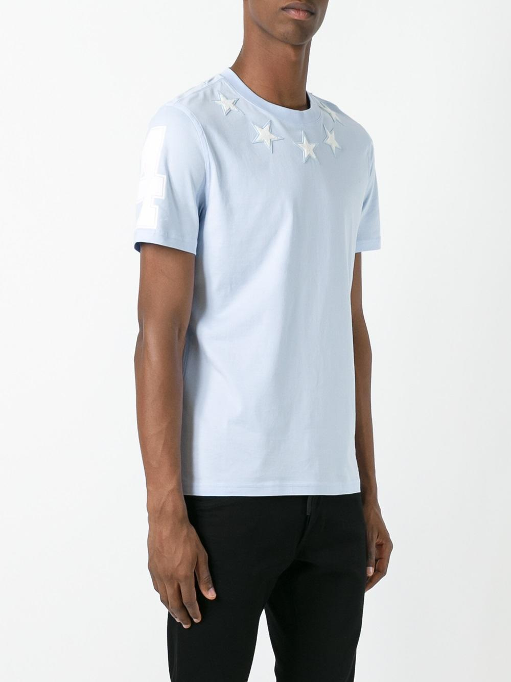 766572db2f258 Lyst - Givenchy Cuban Star Patch Cotton Jersey T-shirt in Blue for Men