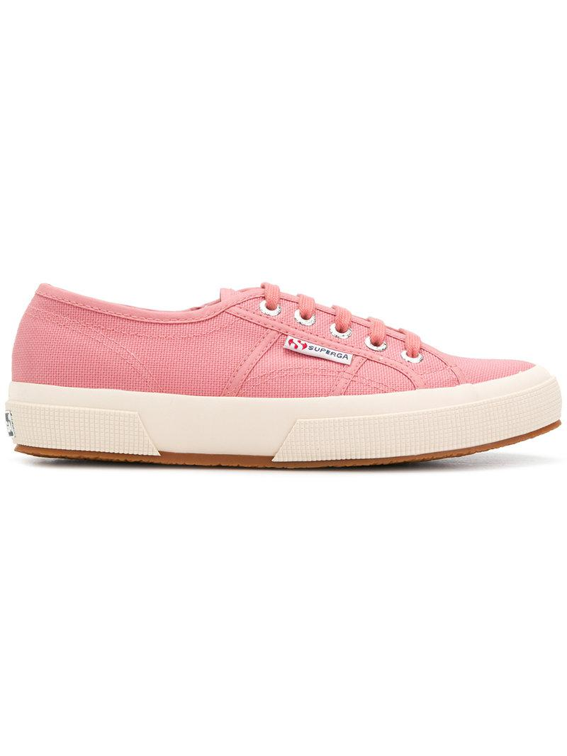 lace-up sneakers - Pink & Purple Superga aouFe