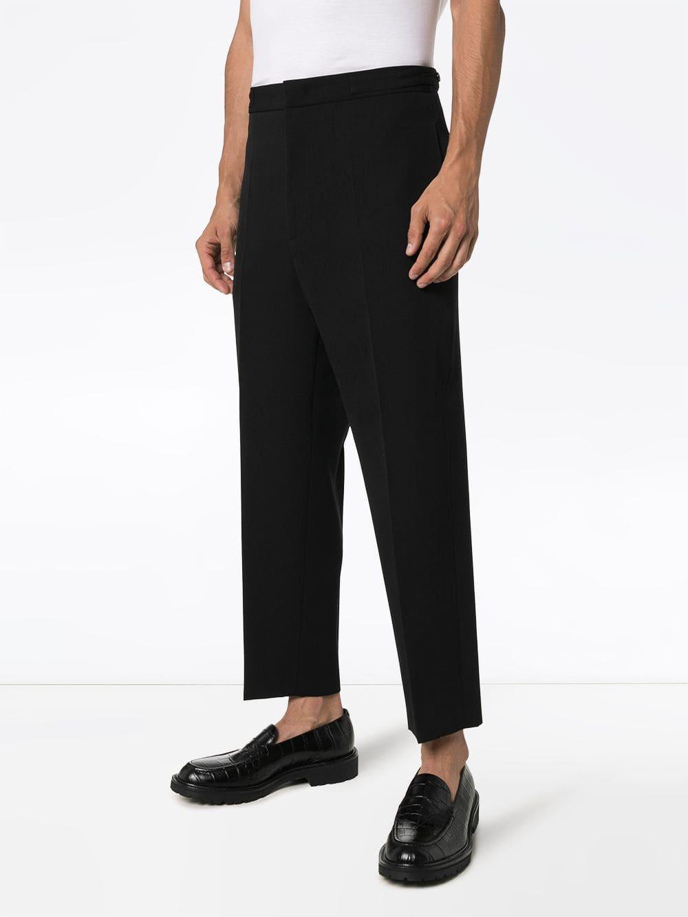 Jil Sander Wol Straight Pantalon in het Zwart voor heren