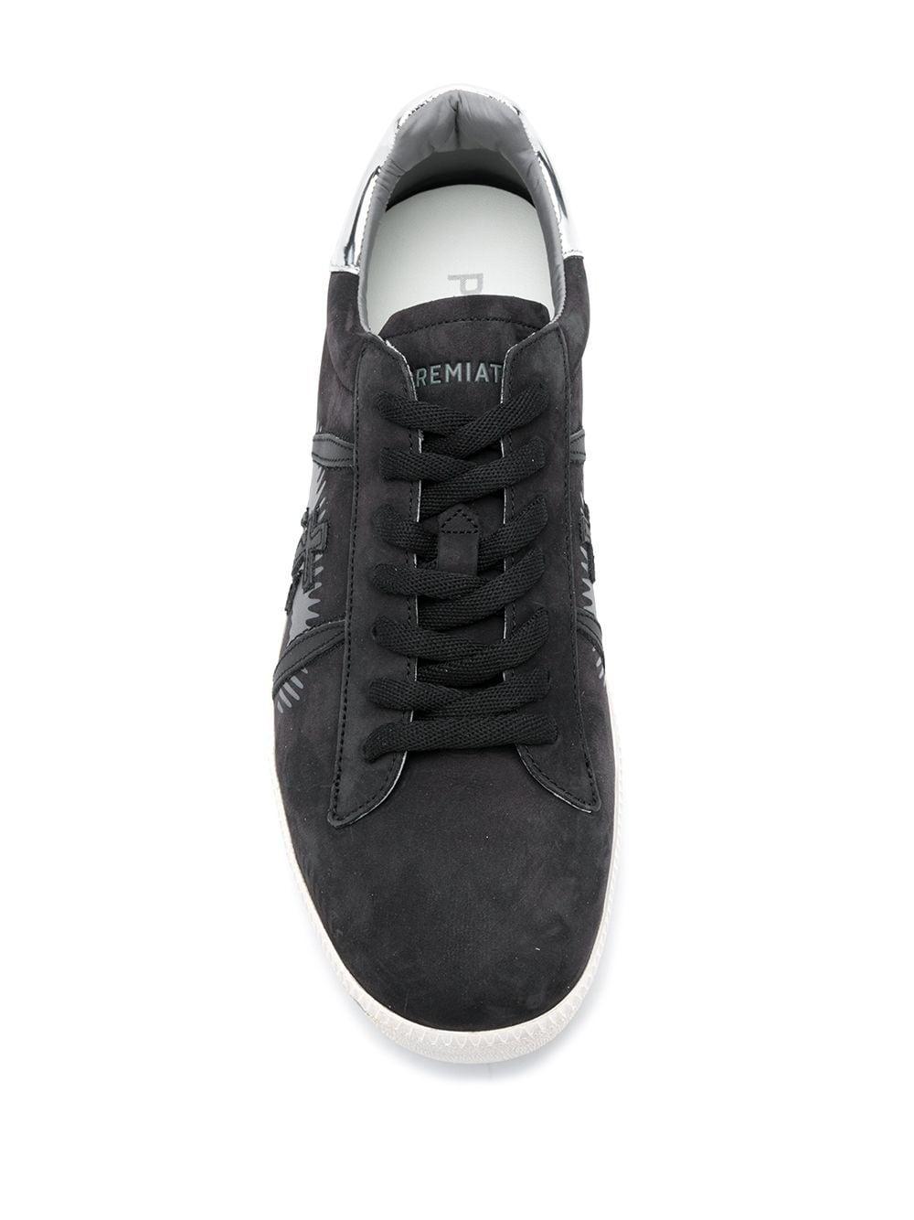Premiata Leer Andy Sneakers in het Zwart voor heren