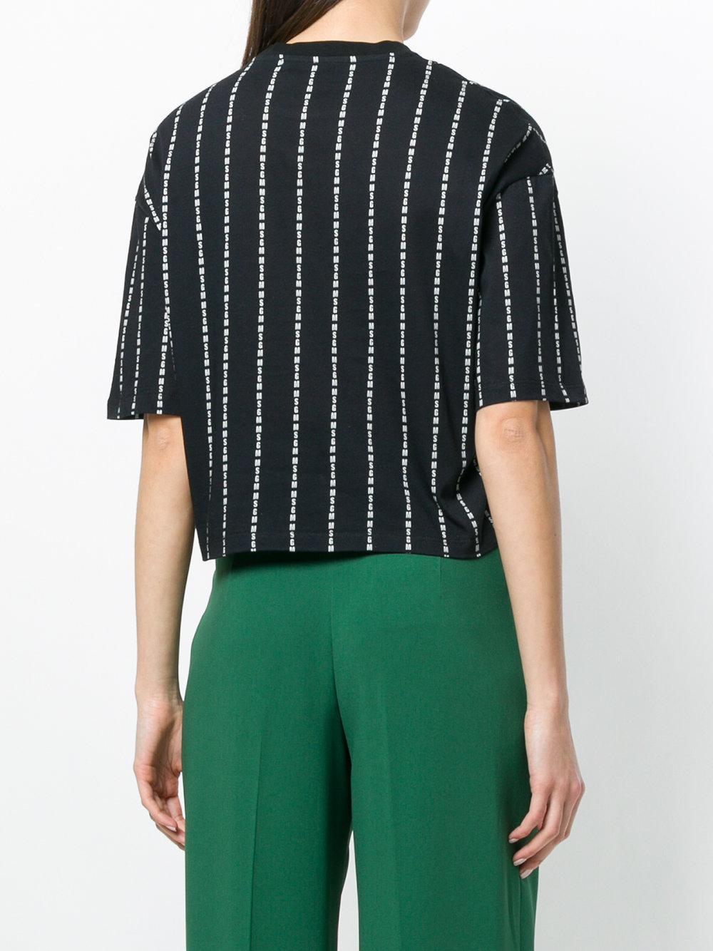 5224bef5a9f81 msgm-Black-Brand-Stripe-Cropped-T-shirt.jpeg