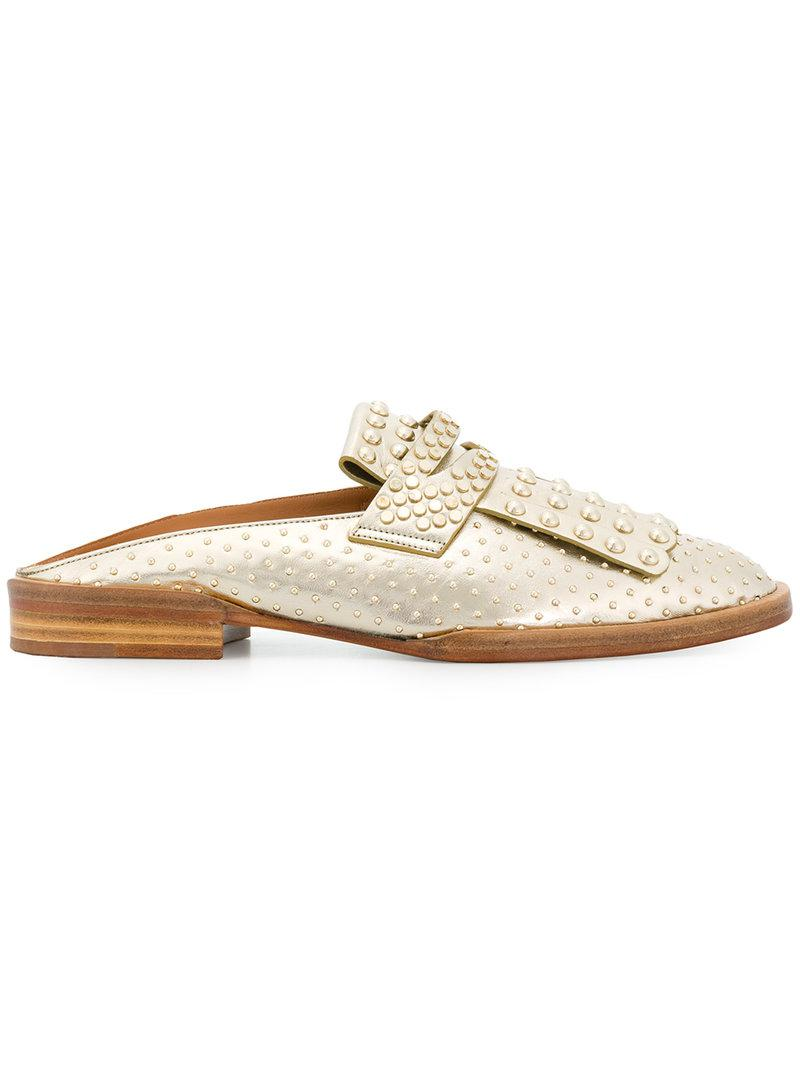 Robert Clergerie Youla pearl embellished mules BkXBap