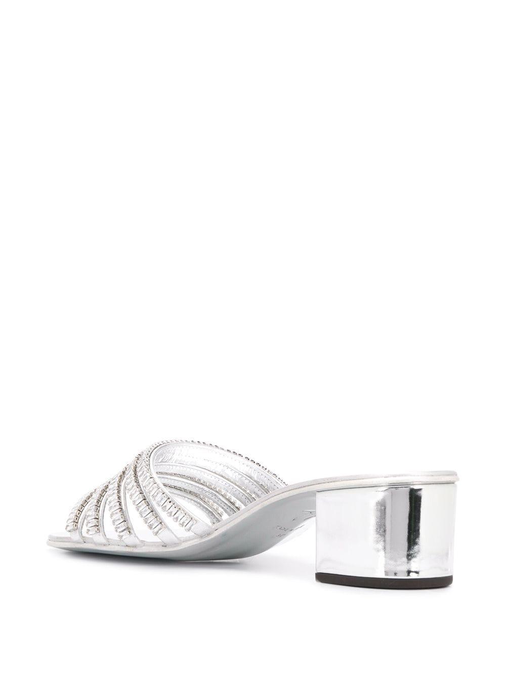 Sandales à bout ouvert Michela Cuir Giuseppe Zanotti en coloris Métallisé