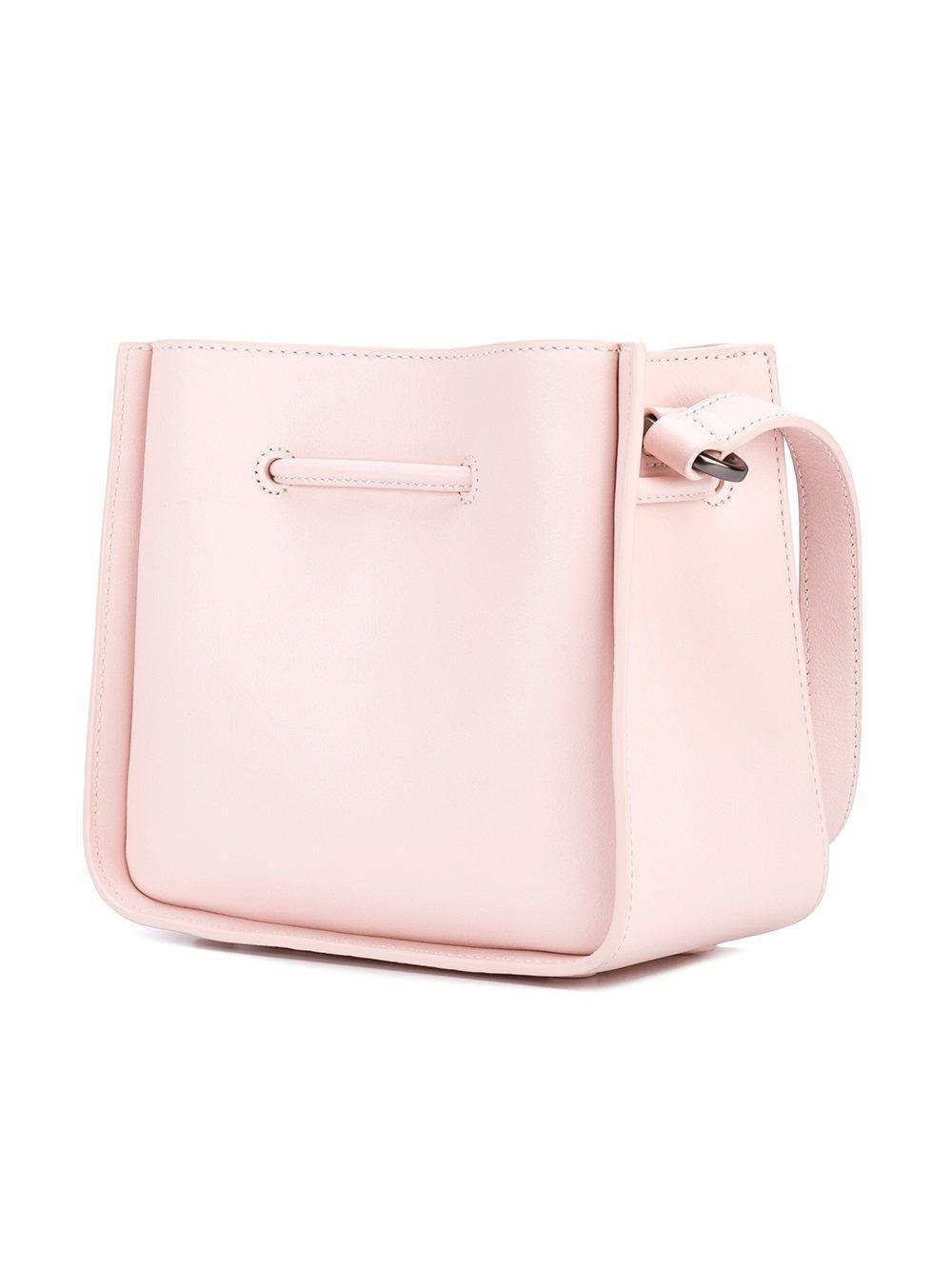 3.1 Phillip Lim Leather Mini Soleil Crossbody Bag in Pink & Purple (Pink)