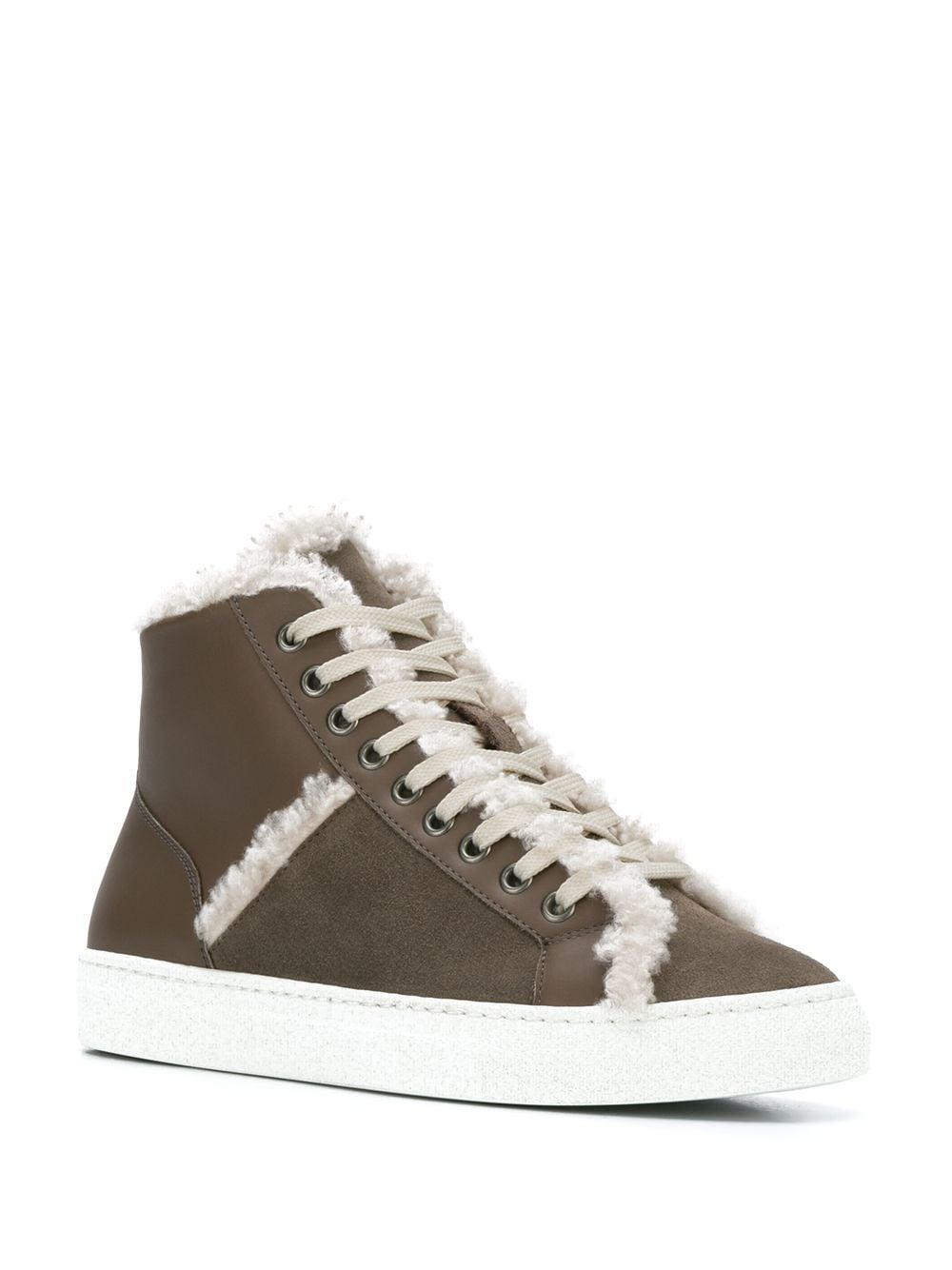 Zapatillas altas con borrego Yves Salomon de Cuero de color Gris