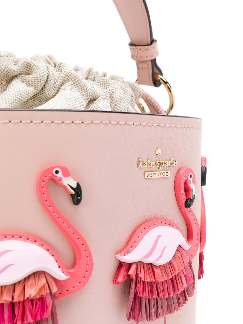 Kate Spade Leather Flamingo Embellished Tote Bag in Pink & Purple (Pink)