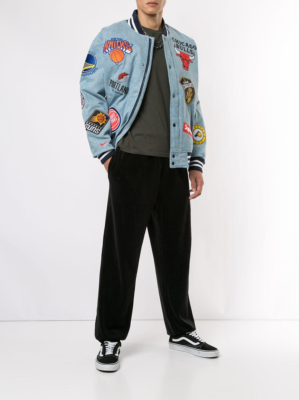 Supreme Nike/nba Teams Jacket 'ss 18' in Blue for Men