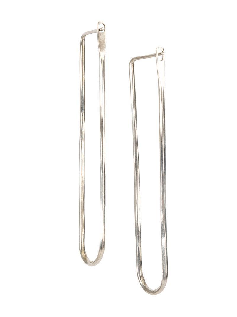Werkstatt München plate drop earrings - Metallic 667etZF85s