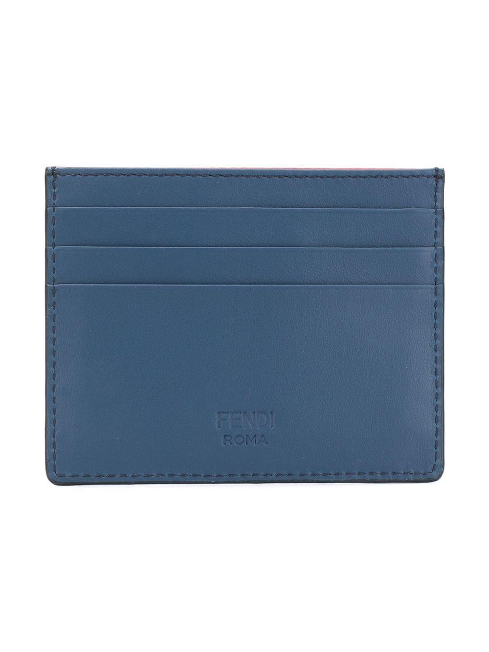 b65d8a37ac4 Lyst - Fendi Bag Bugs Leather Card Case in Blue for Men - Save 26%