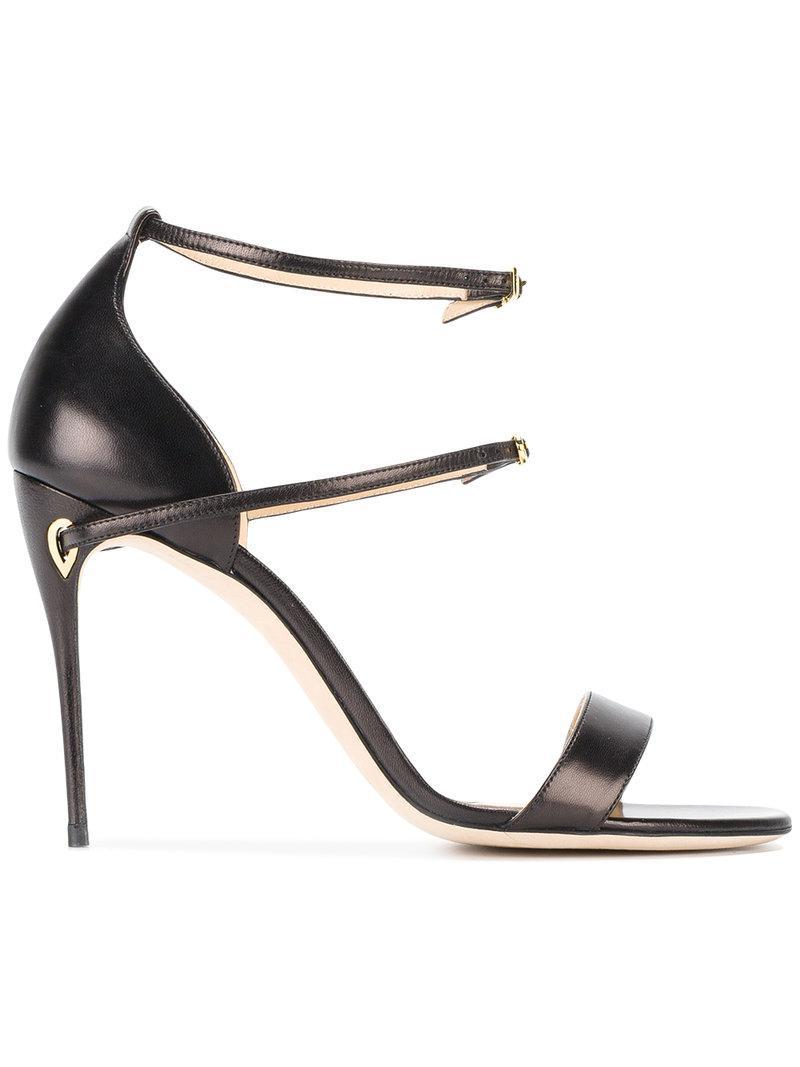 Rolando Leopard-print Calf Hair And Leather Sandals - Black Jennifer Chamandi BCz9asbI4e