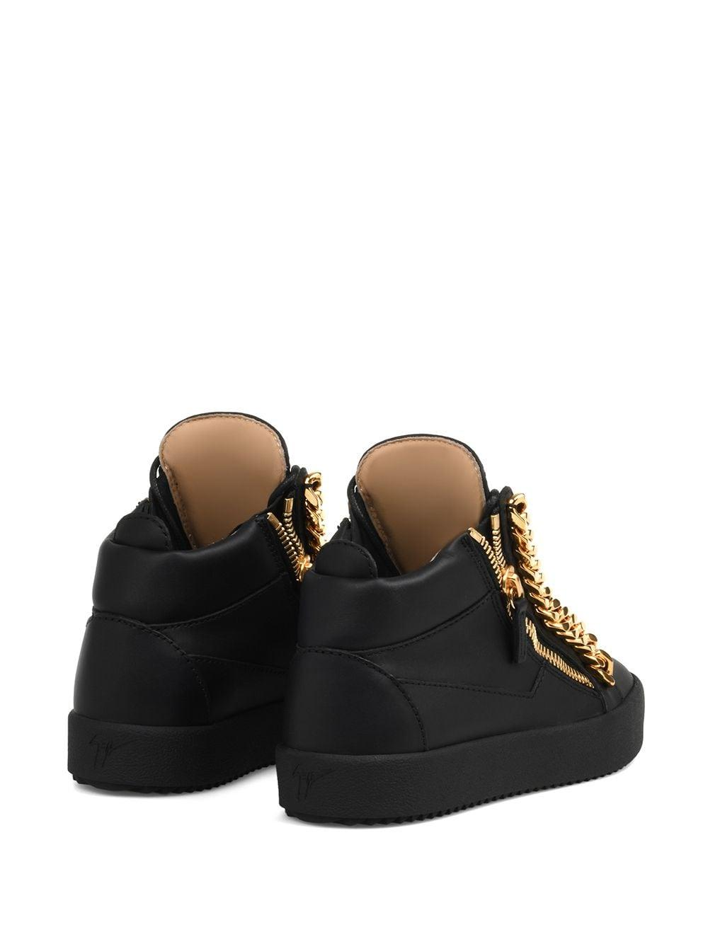 Zapatillas bajas Kriss con detalle de cadenas Giuseppe Zanotti de Cuero de color Negro