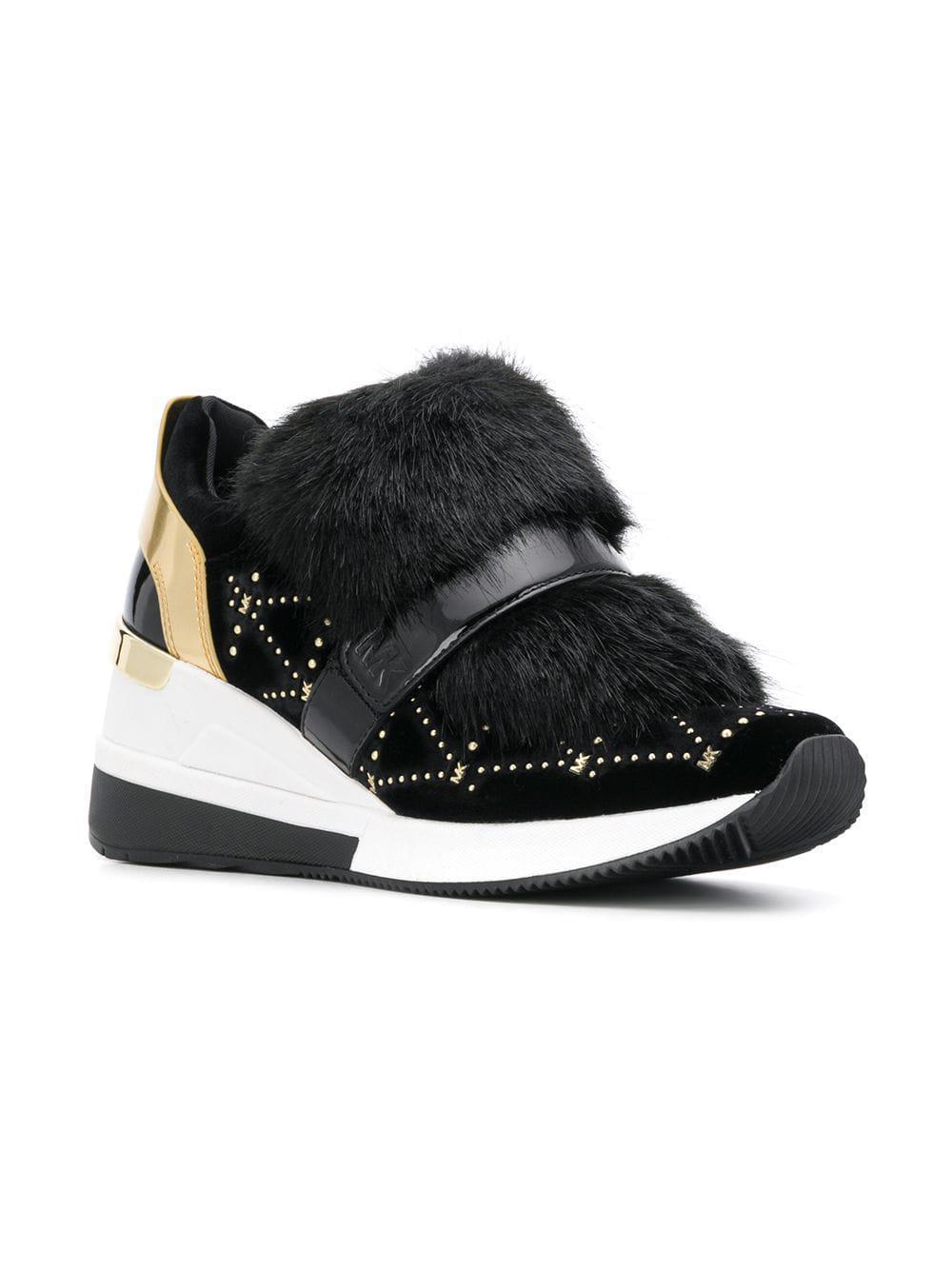 e91c5da0ede60 Lyst - MICHAEL Michael Kors High Maven Sneakers in Black - Save 42%