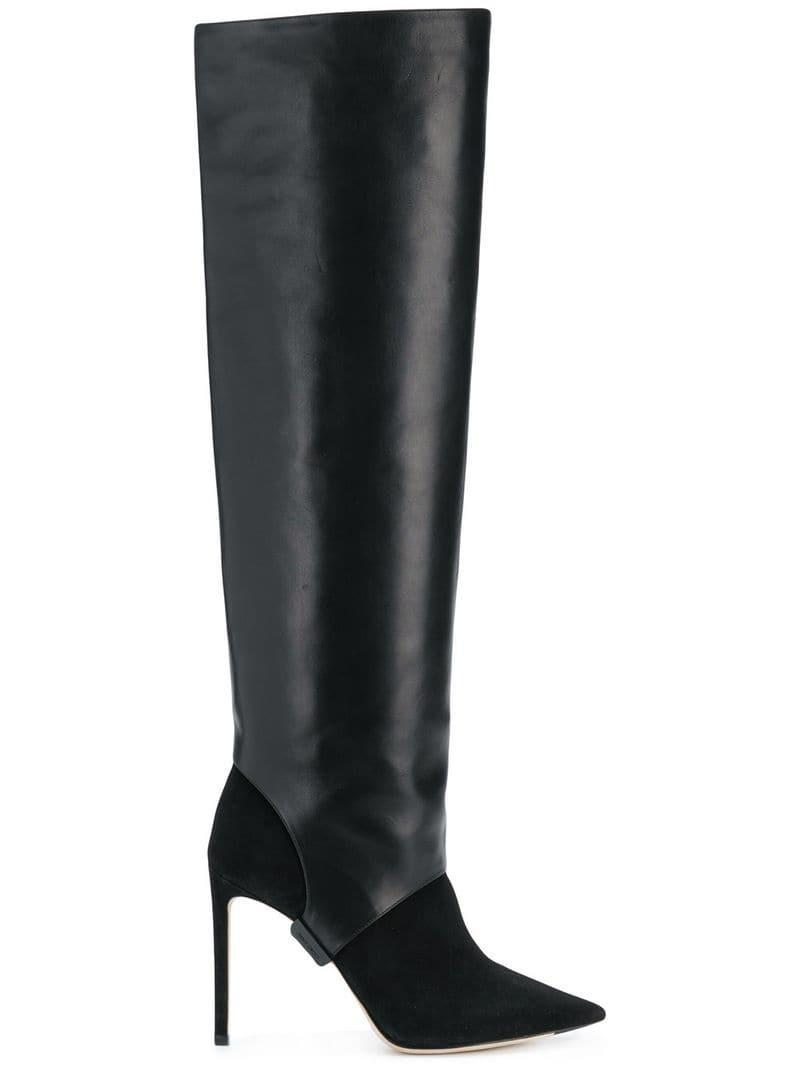 3e40d8ecd4fe Lyst - Jimmy Choo Hurley 100 Boots in Black - Save 32%