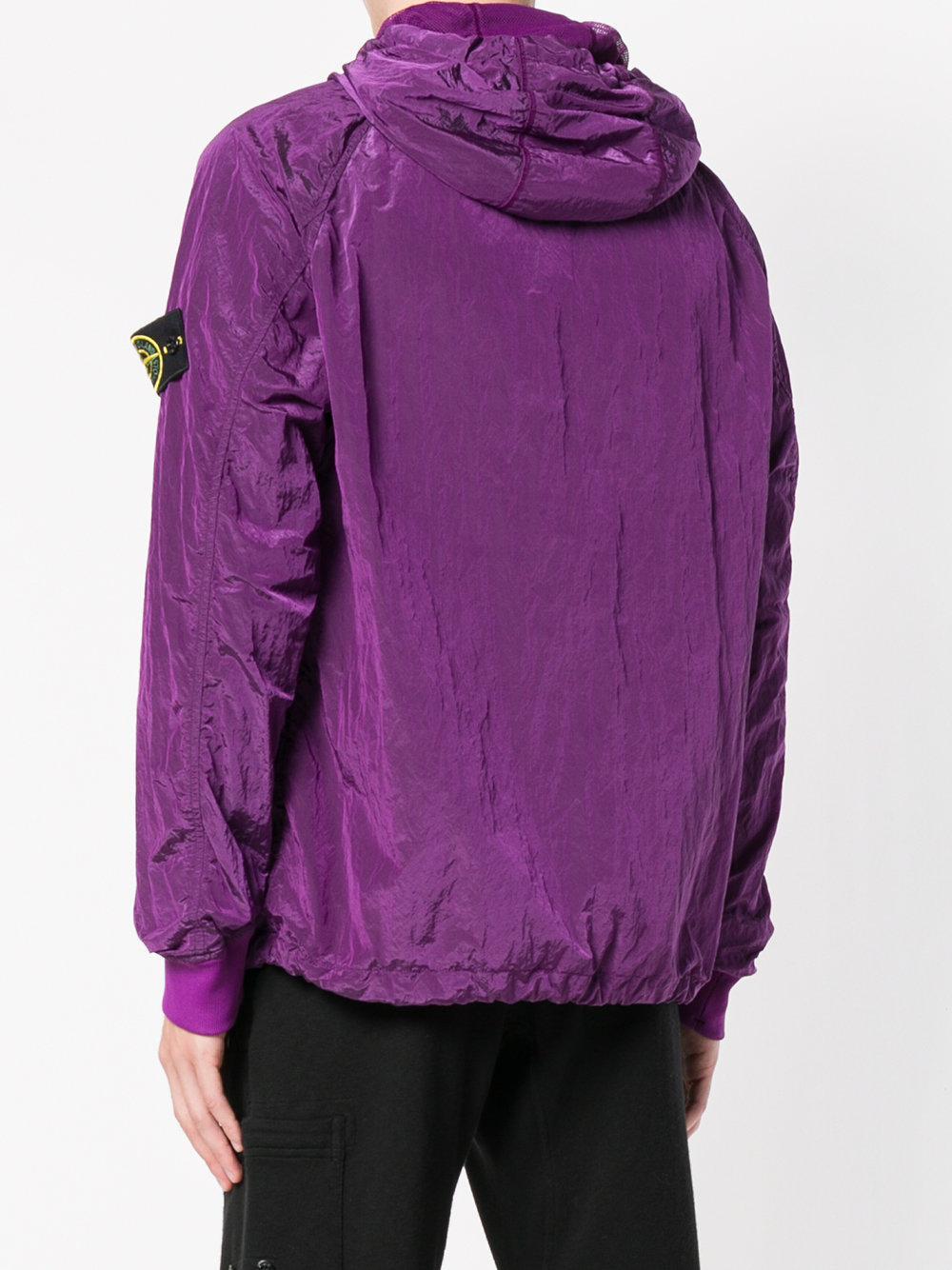 Stone Island Lightweight Drawstring Hood Jacket in Pink & Purple (Purple) for Men
