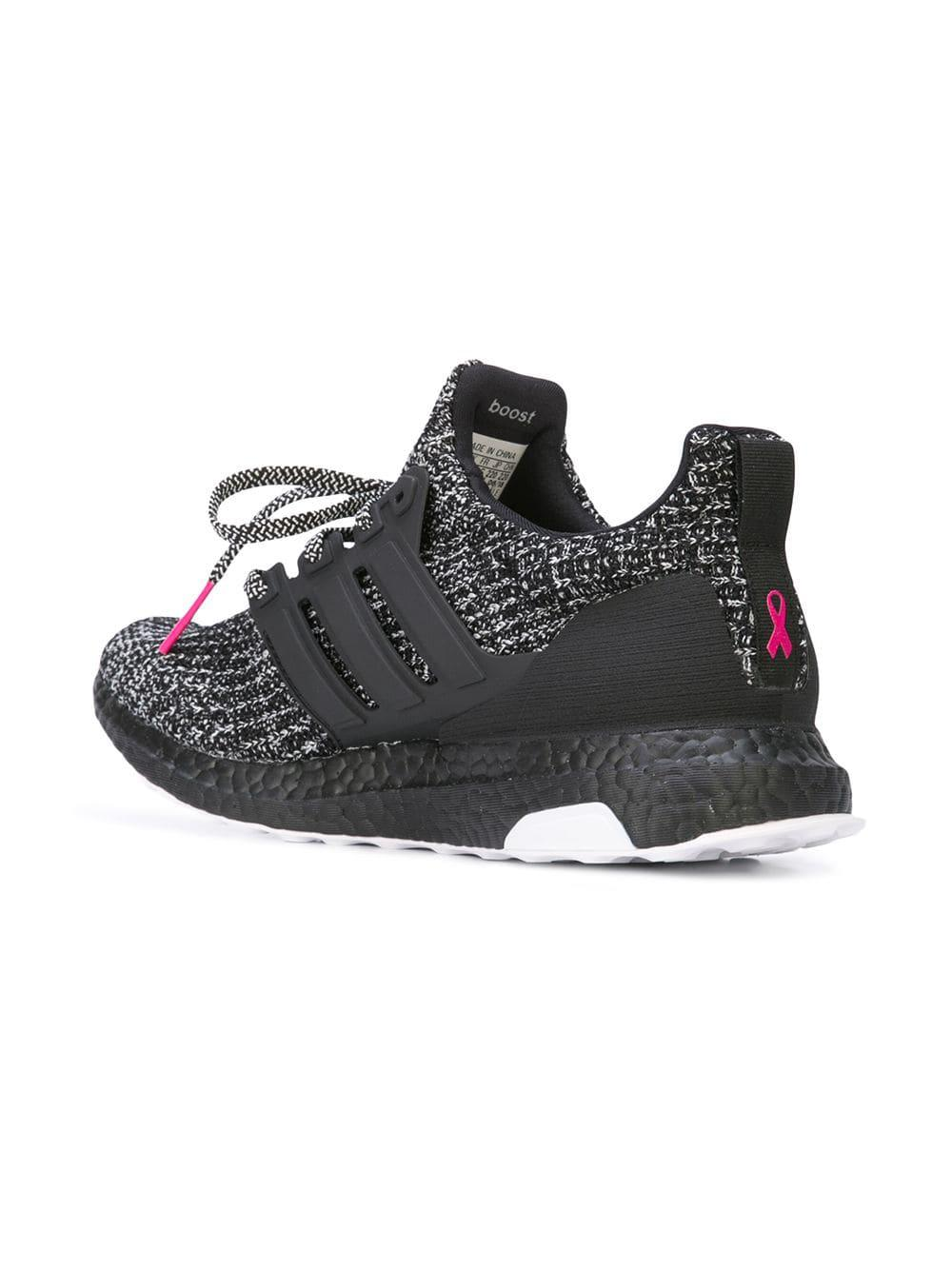 best service cee4c e5fa7 Adidas Black Ultraboost 4.0 'breast Cancer Awareness' Sneakers for men