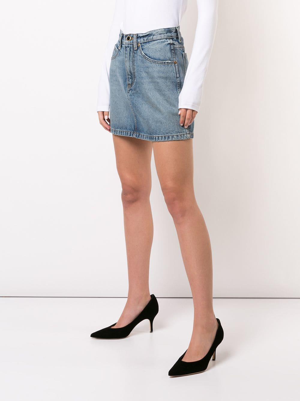 Minijupe en jean The Dolly Khaite en coloris Bleu