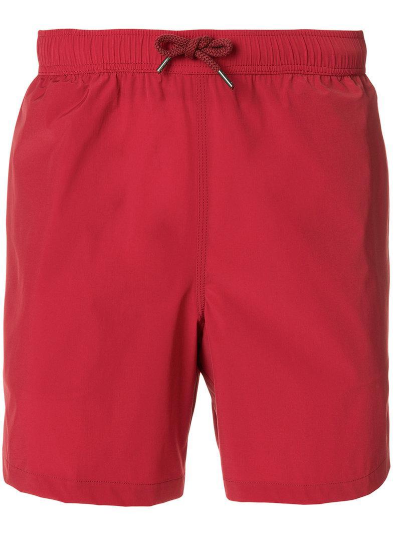 39a2455441 Aspesi - Red Plain Swim Trunks for Men - Lyst. View fullscreen