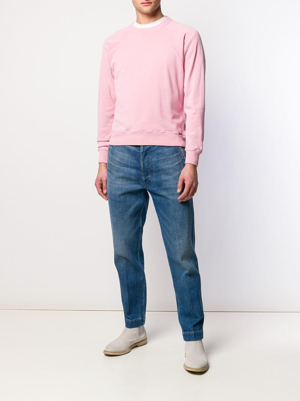 c280d6294e9 Lyst - Tom Ford Jersey Sweatshirt in Pink for Men - Save 1.2912482065997182%