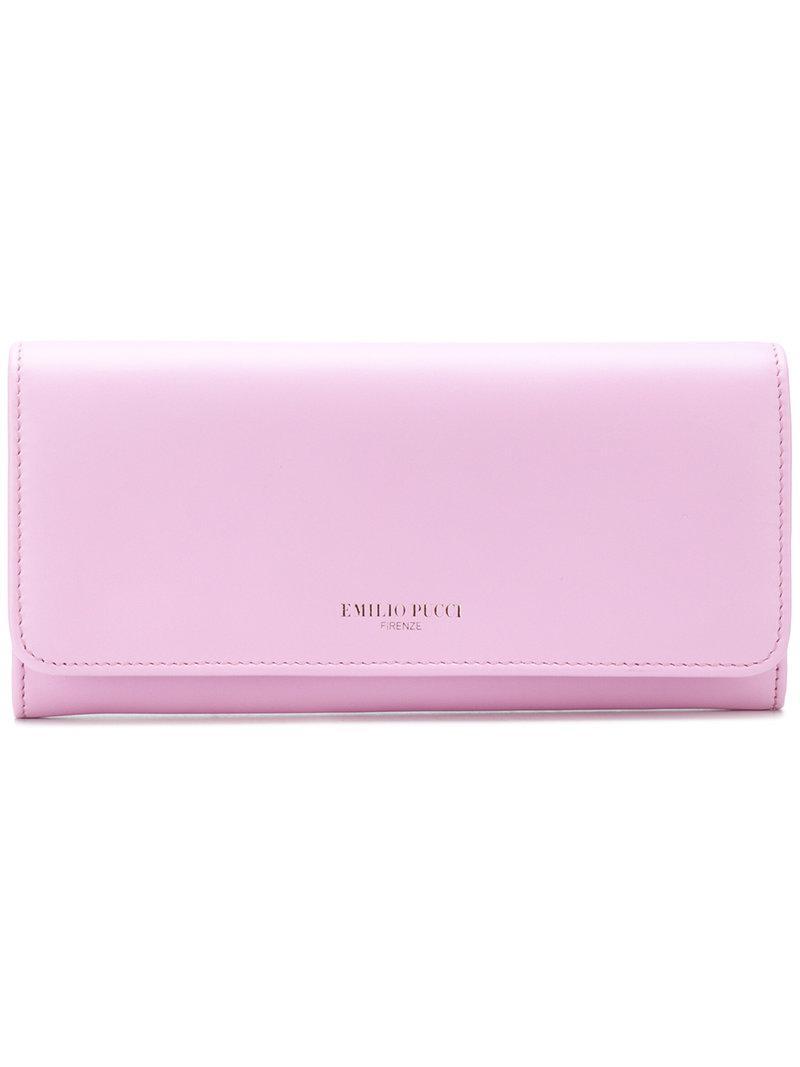 logo stamp billfold purse - Pink & Purple Emilio Pucci 4vFzNHdDBS