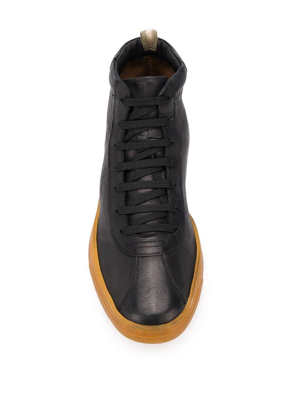 Officine Creative Leer High-top Sneakers in het Zwart voor heren