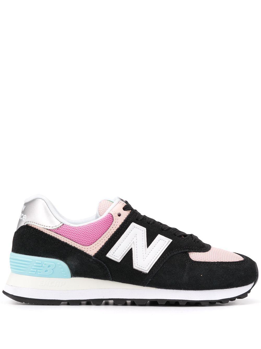 New Balance 574 in Black/Pink (Black) - Lyst