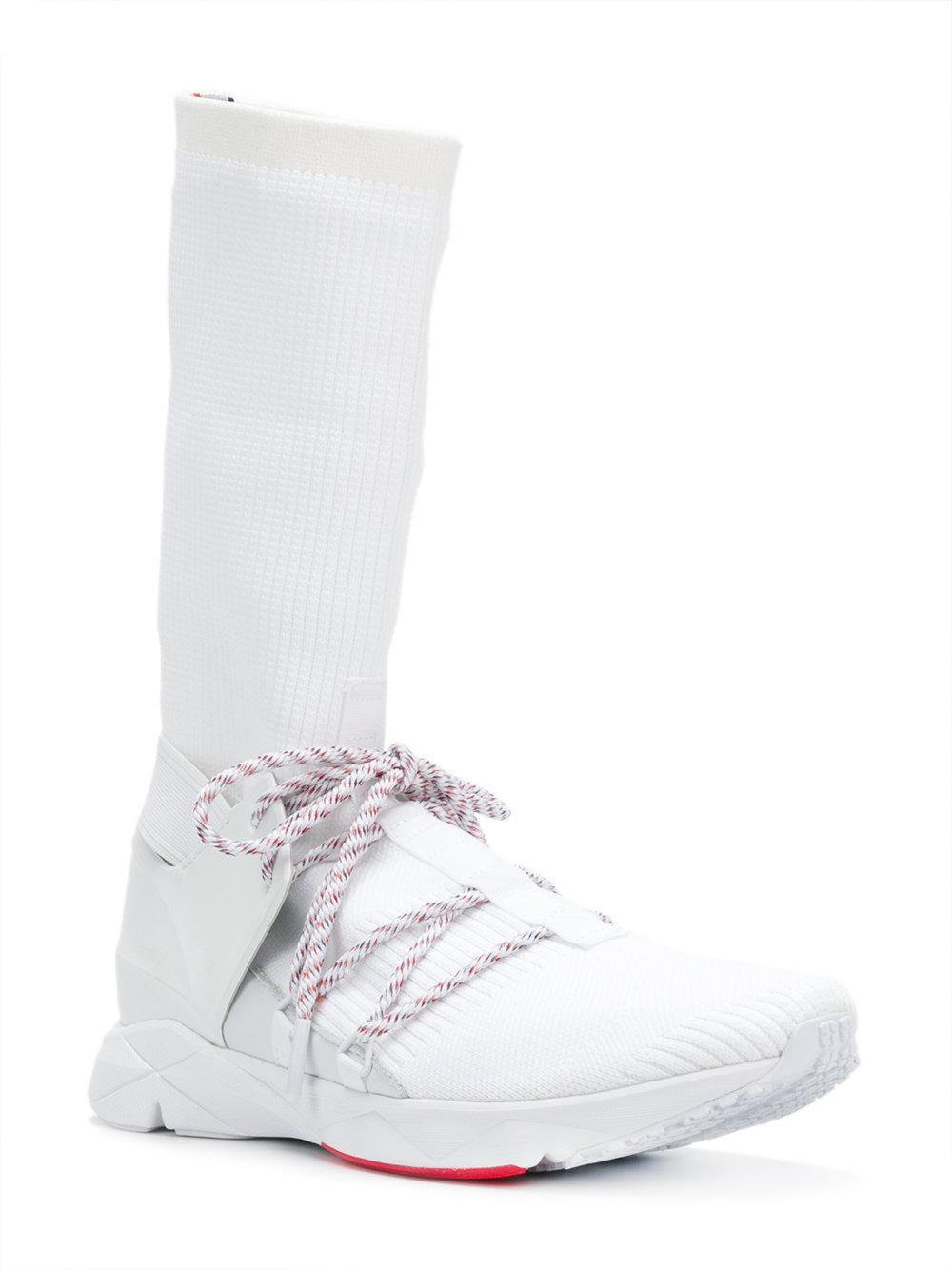 Reebok Cotton Knee-length Sock Sneakers in White