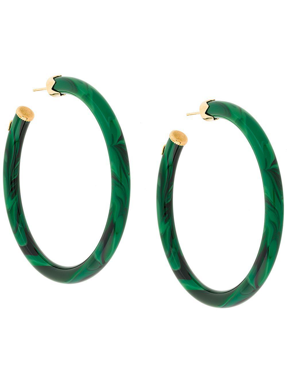 vendita limitata ottima vestibilità sconto fino al 60% Lyst - Gas Bijoux Orecchini Ad Anello 'caftan' in Green