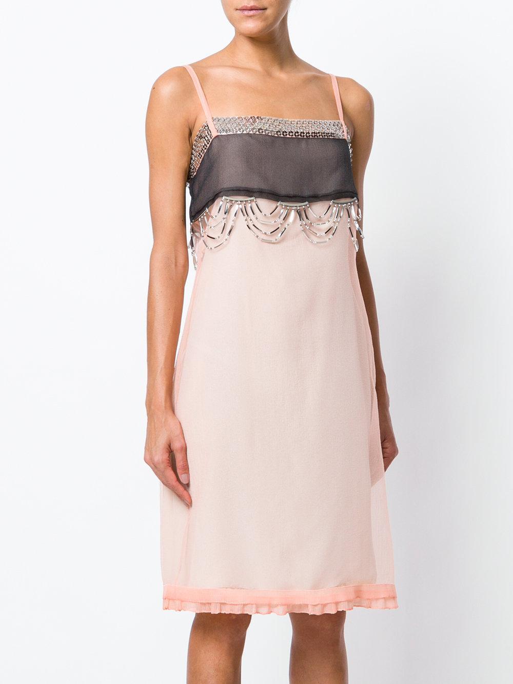 beaded slip dress - Yellow & Orange Prada Mxmxy