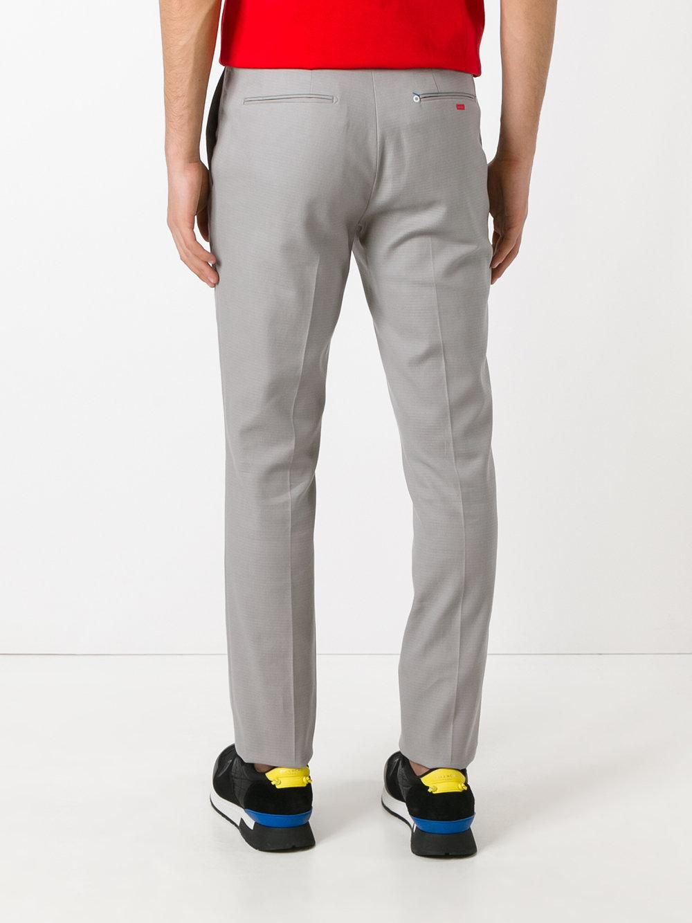 Fendi Cotton Tailored Trousers in Grey (Grey) for Men