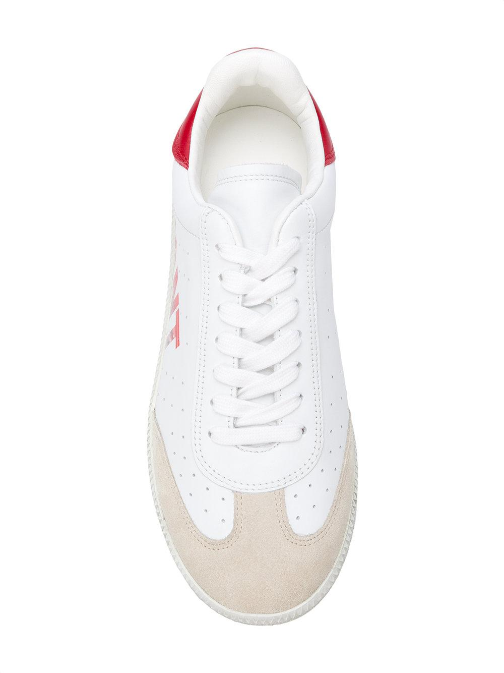 Isabel Marant Cotton Bryce Sneakers in White