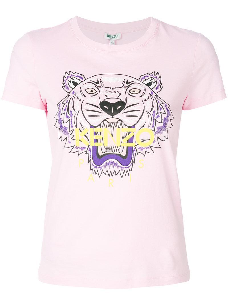 lyst kenzo tiger t shirt in pink. Black Bedroom Furniture Sets. Home Design Ideas