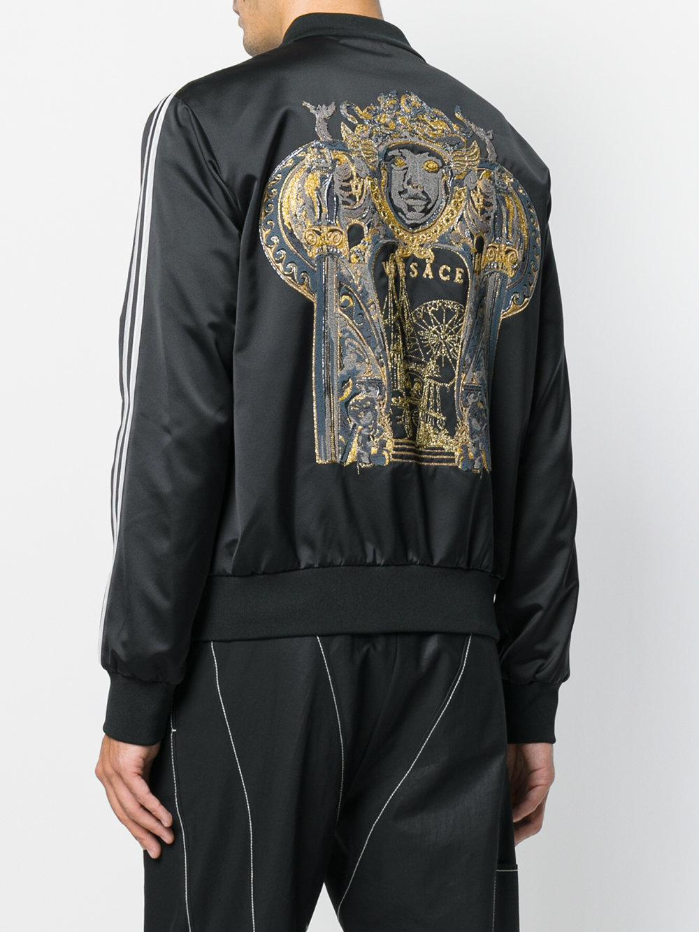 Versace Synthetisch Medusa Embroidered Bomber Jacket in het Zwart voor heren