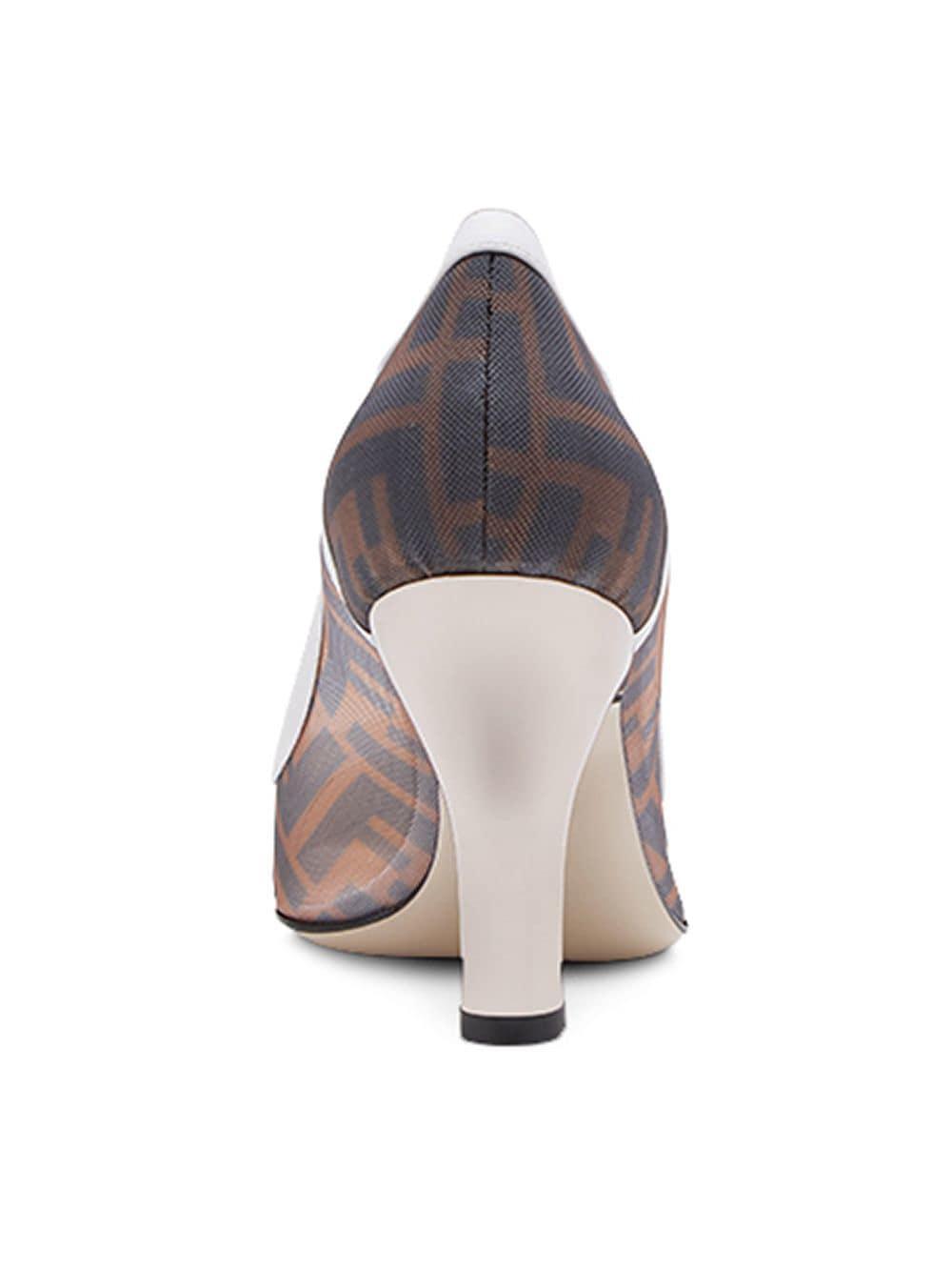 Zapatos de salón estilo slip-on Fendi de Cuero de color Marrón