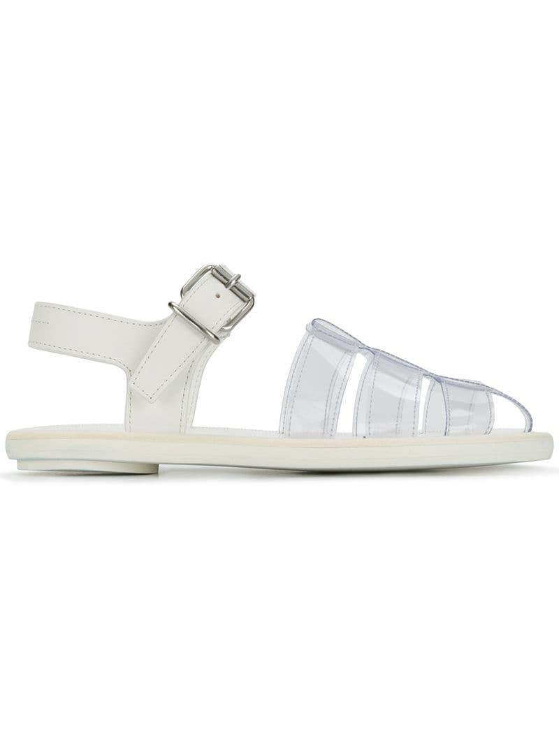 657f05cdc0be MM6 by Maison Martin Margiela Transparent Pool Sandals in White - Lyst