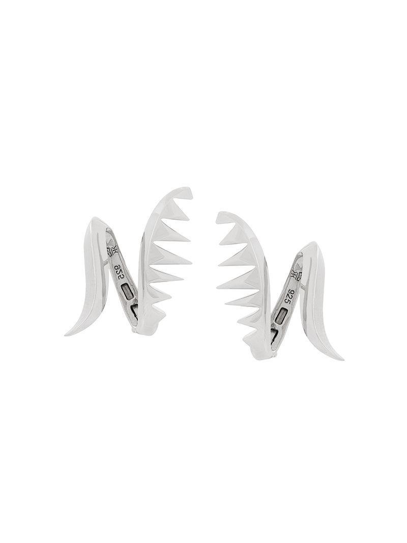 Serpent Earrings - Metallic Kasun London TXn6j