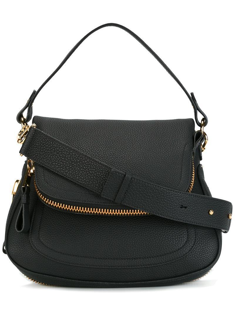 tom ford medium double strap jennifer bag in black lyst. Black Bedroom Furniture Sets. Home Design Ideas