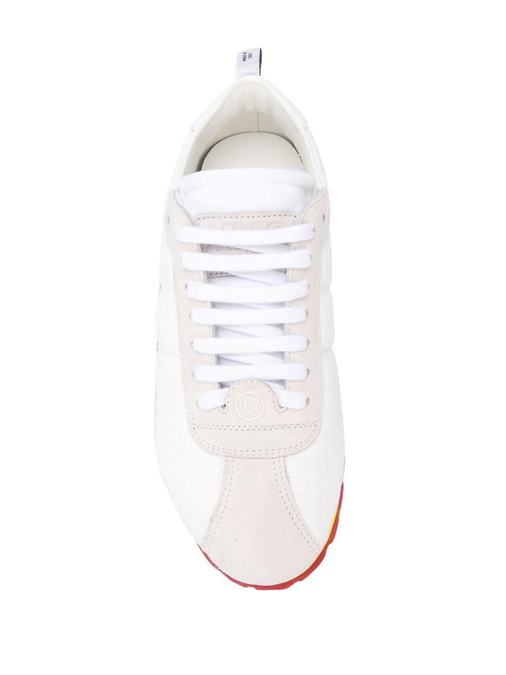 Zapatillas con diseño de paneles con cordones MM6 by Maison Martin Margiela de Ante de color Blanco
