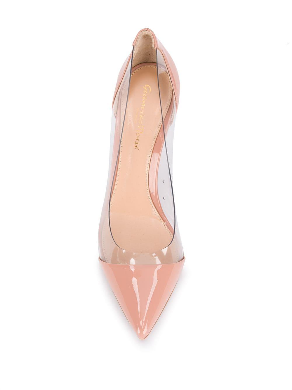 Zapatos de tacón Dahlia Trasp Gianvito Rossi de Cuero de color Rosa