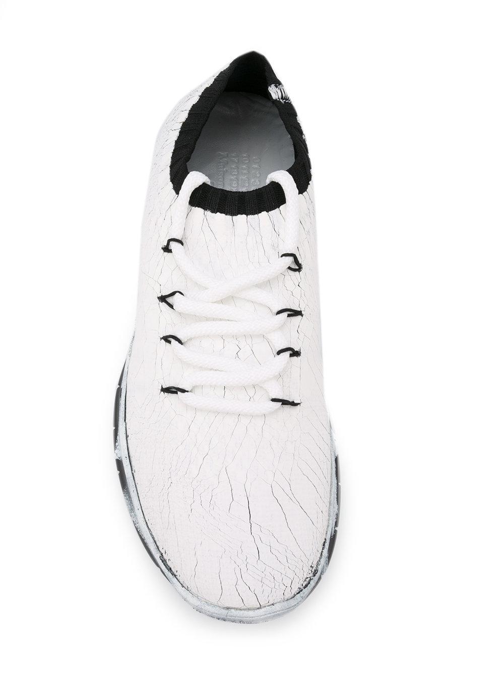 Maison MargielaCracked sponge painted sneakers wz7k6ll