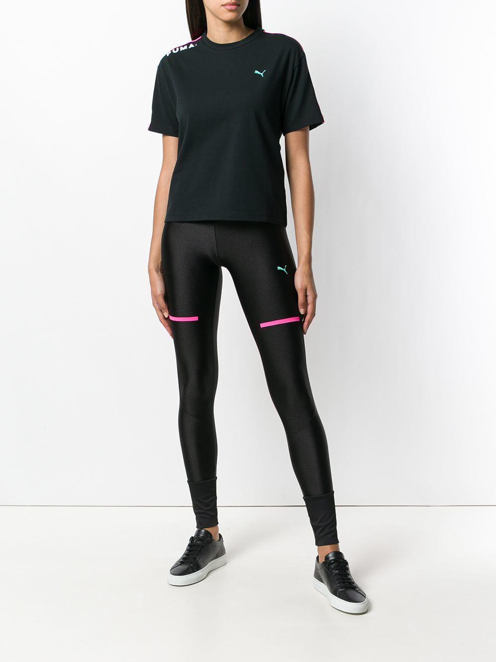 088ebfd4378ba PUMA Chase leggings in Black - Lyst