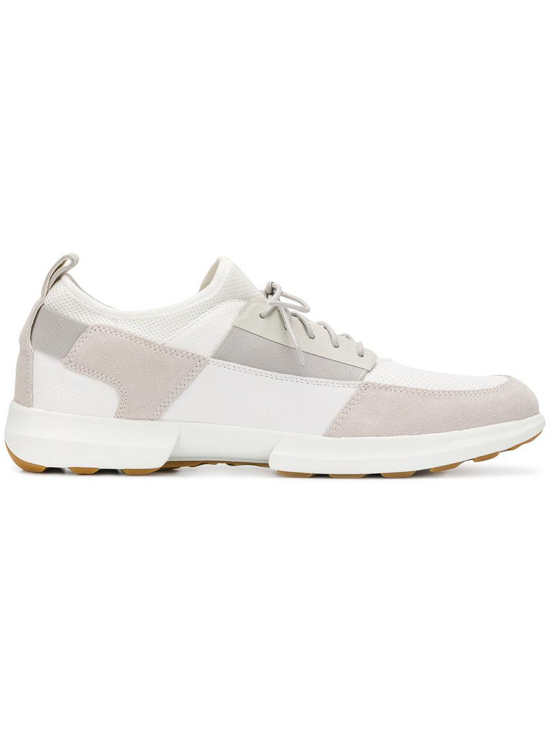 patchwork embellished sneakers - White Geox rCIsTwENr