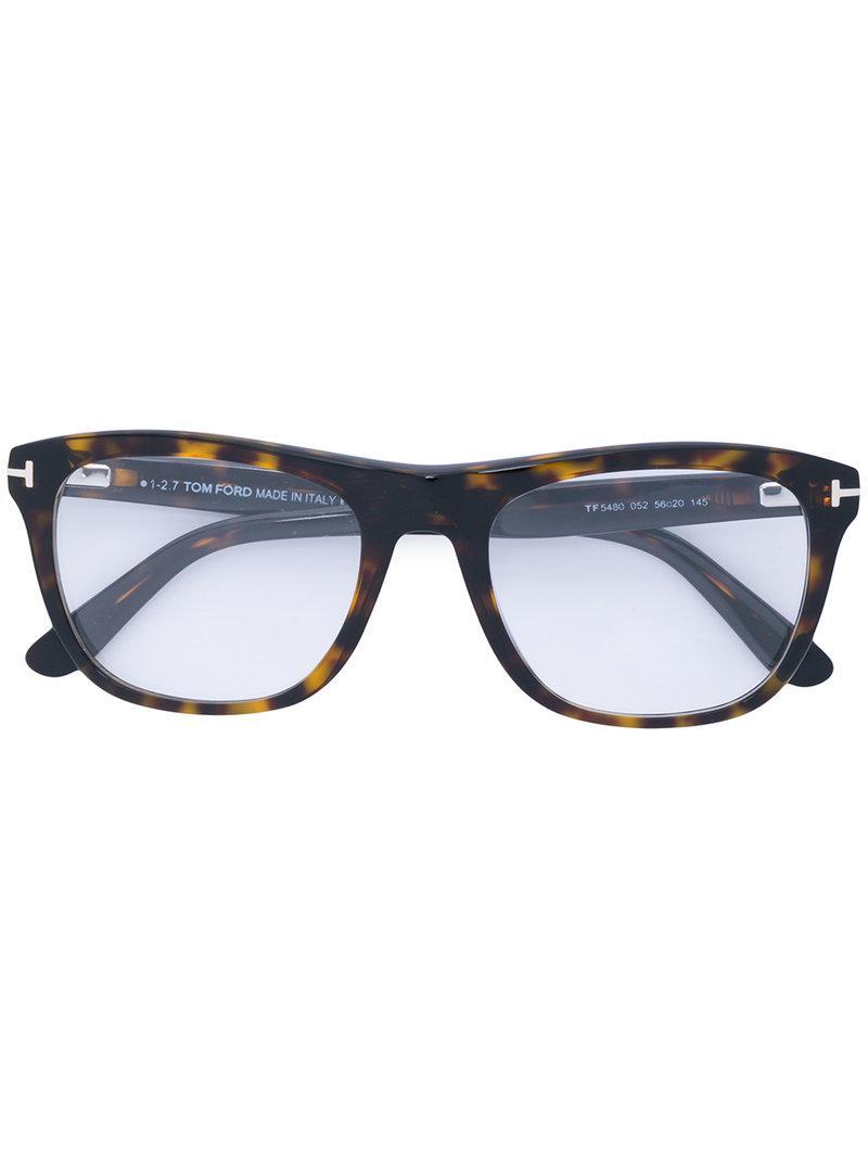 15ecc9f1fa7a Lyst - Tom Ford Rectangle Tortoiseshell Glasses in Brown for Men