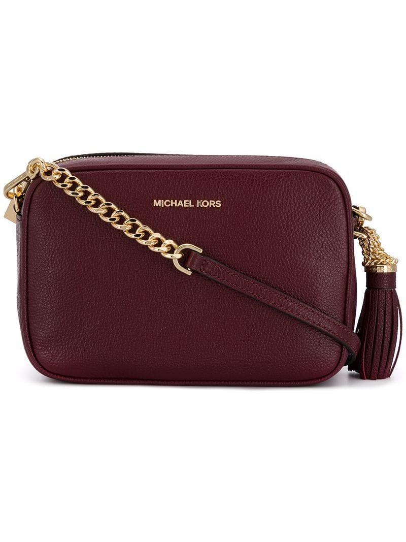 089ad398976c MICHAEL Michael Kors Ginny Medium Camera Bag in Red - Save 45% - Lyst