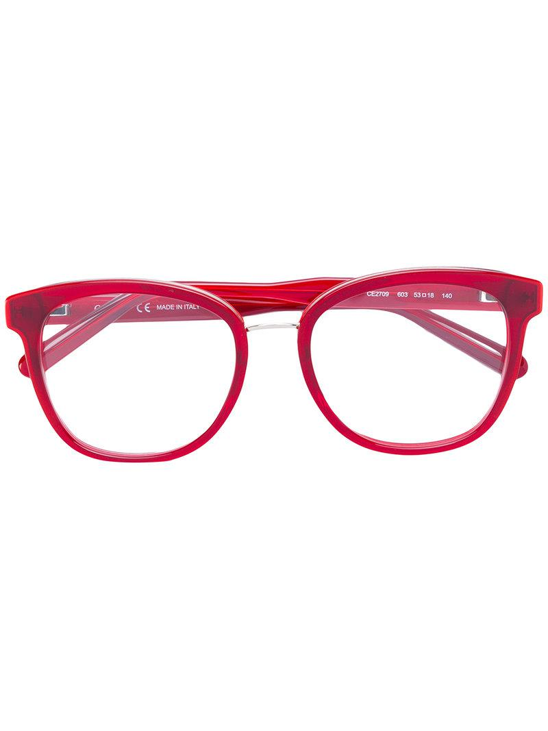 81ab6b731d5 Chloé Square Frame Glasses in Red - Lyst
