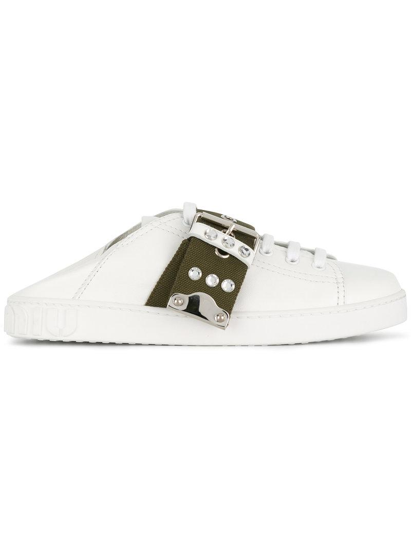 collapsible back sneakers - White Miu Miu