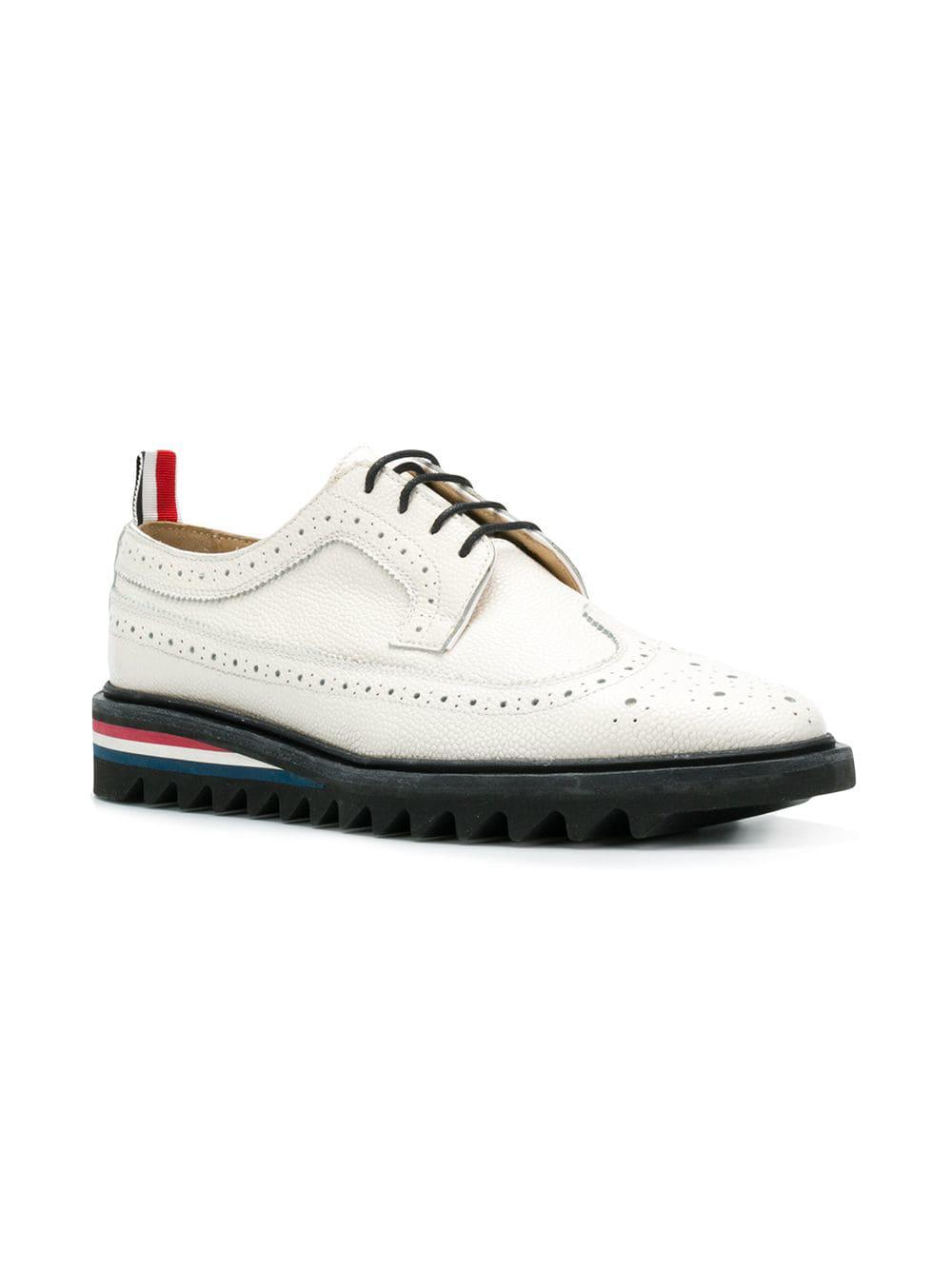 Zapatos de vestir longwing Thom Browne de Cuero de color Blanco