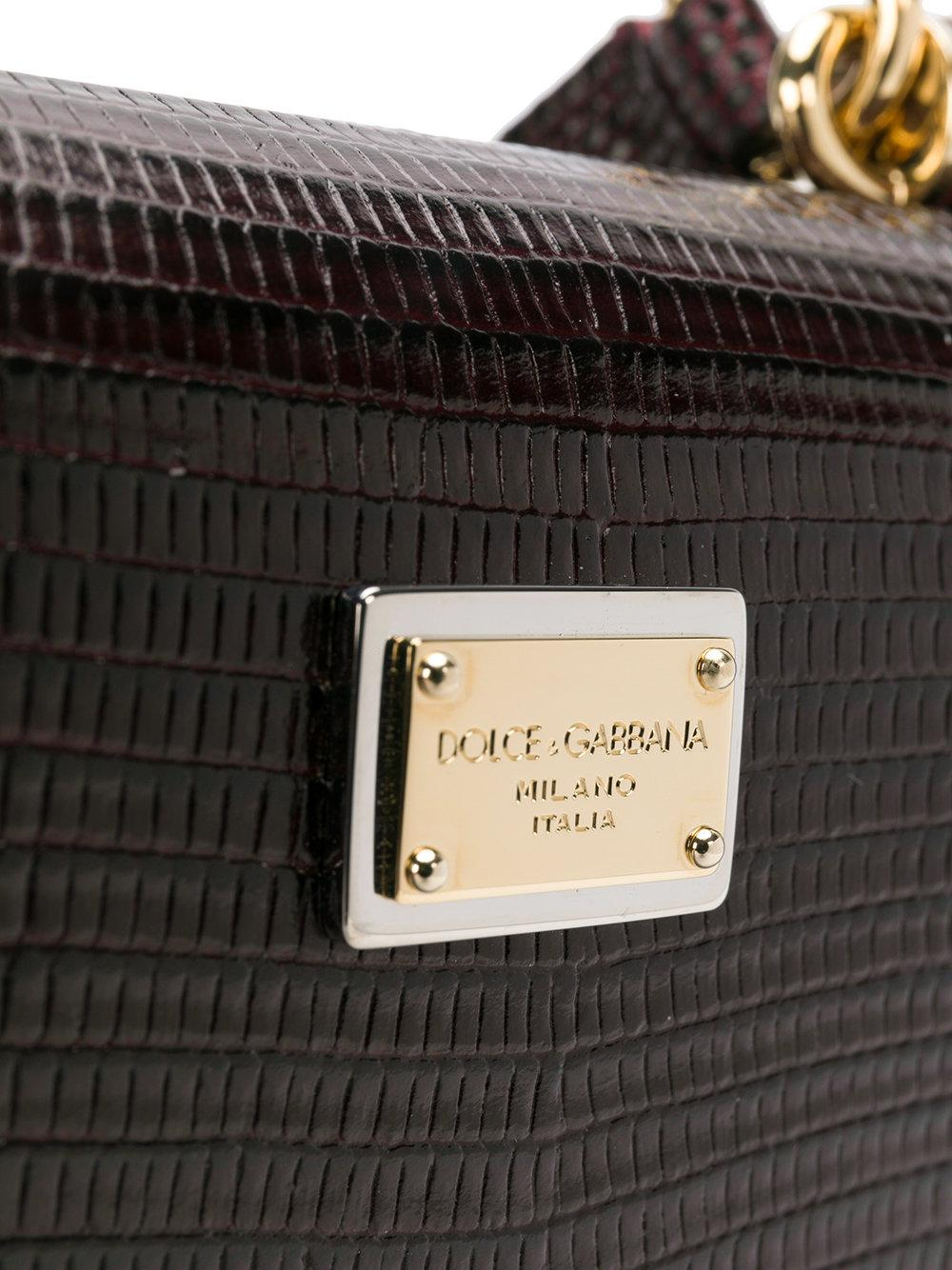 Dolce & Gabbana Leather Mini Von Wallet Crossbody Bag in Brown